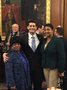 Speaker Ryan and Ms. Sampson at her Retirement Party, January 2016