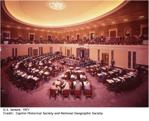 Senate 1971. Photo from Capitol Historical Society and National Geographic Society