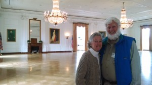"John ""Shep"" Barrison (House, 1954) and his wife Virginia in the East Room replica in the Richard Nixon Presidential Library and Museum"